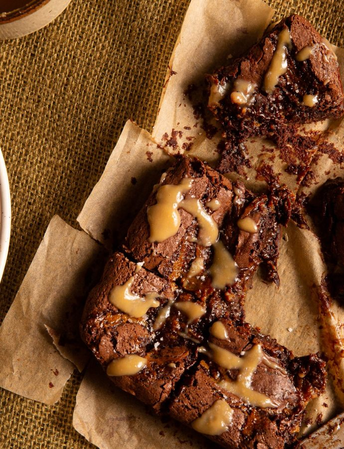 Ultra Gooey Salted-Caramel Brownies