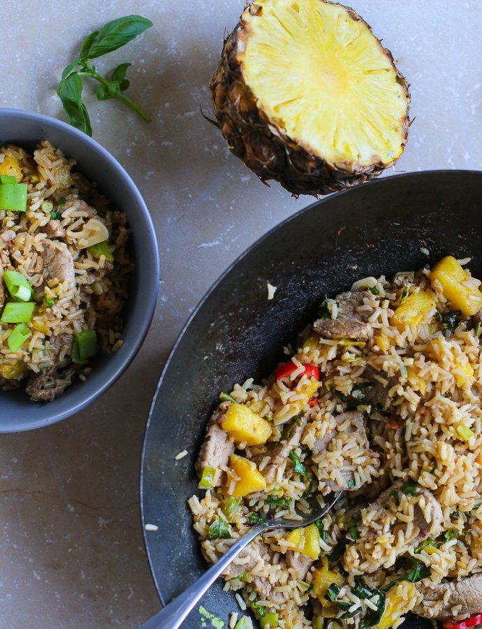 Tangy Pork and Pineapple Stir Fry