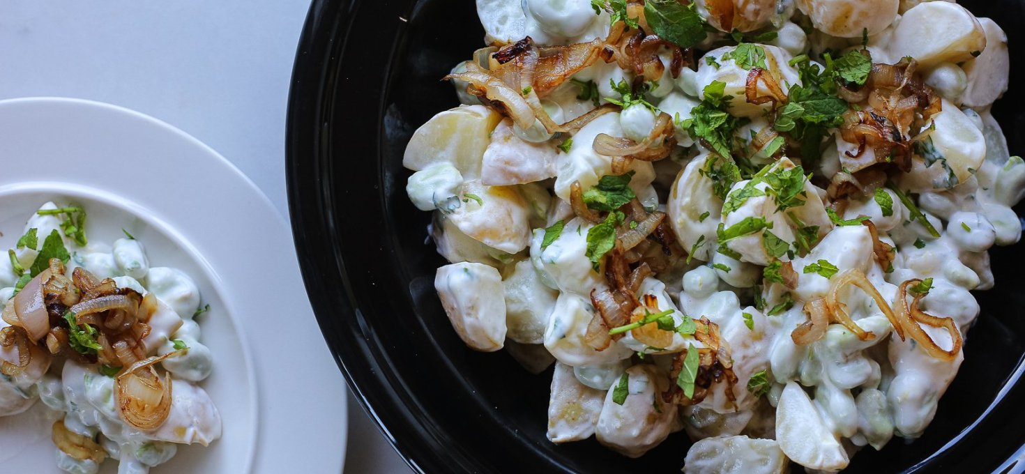 Light Broad Bean Potato Salad
