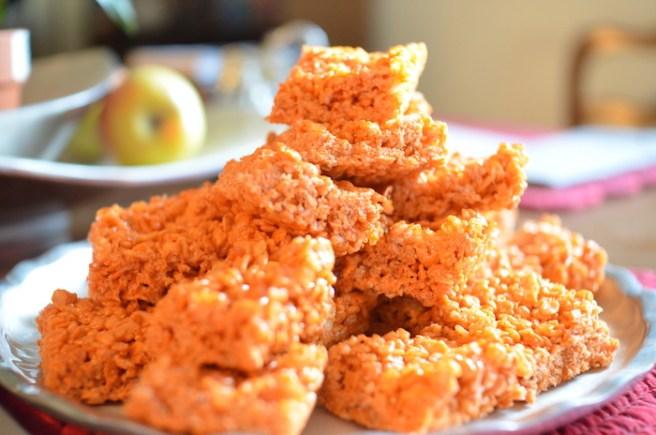 Pumpkin Spice Crispy Treats