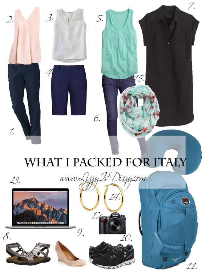 What I packed for a 10 day Trip to Italy