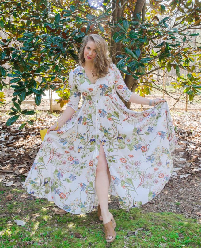 Gorgeous floral dress for only $33!