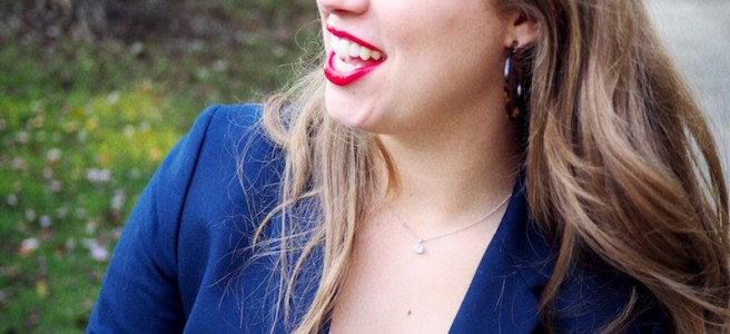 Blue Blazers Red Lipstick
