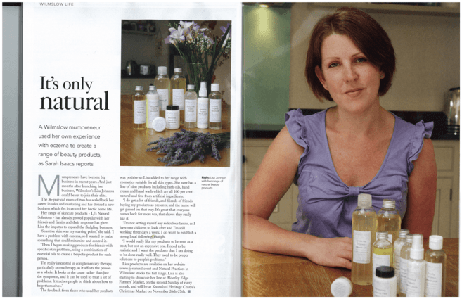 LJ's Natural Solutions in Cheshire Life