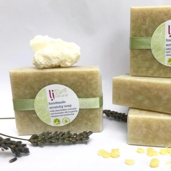 handmade scratchy soap