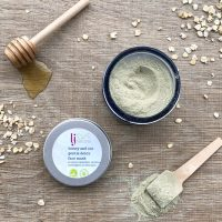 Honey and oat mask handmade organic skincare products