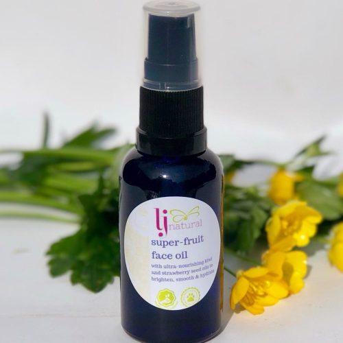 super fruit face oil, handmade using just 6 fruit seed oils
