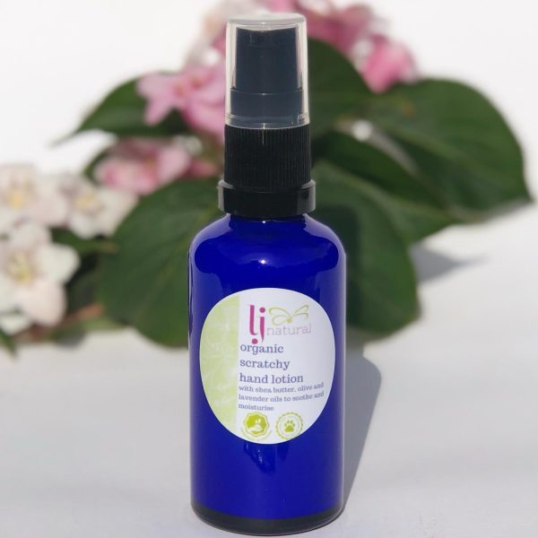 organic scratchy hand lotion