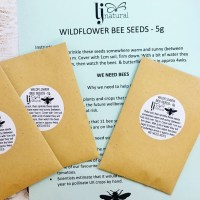 wild flower bee seeds - plant them in your garden to help protect bees from climate change