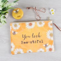 bee make up pouch