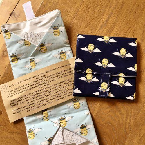 reusable sandwich wrap bee design