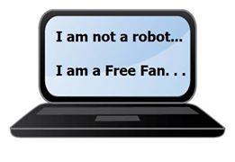 not a robot!