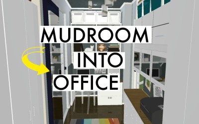SMALL MUDROOM CONVERTED INTO AN OFFICE!