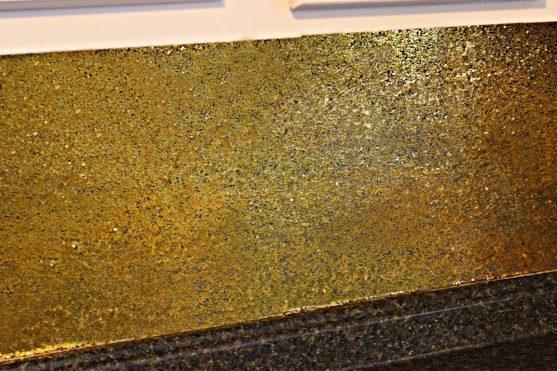 glitter backsplash