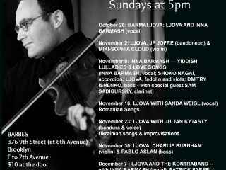 Ljova's Barbes Residency - Sundays at 5