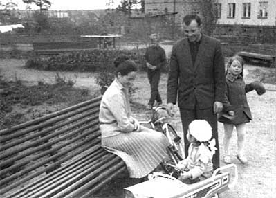 Gagarin with his family