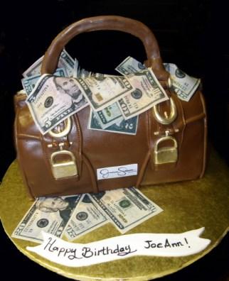 Jessica Simpson Purse Cake W/Edible Money