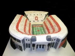 Ohio State Satdium Cake/ Front View