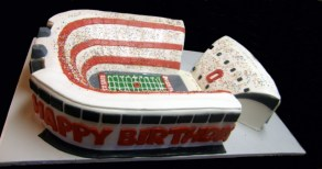 Ohio State Stadium Cake/ Side View