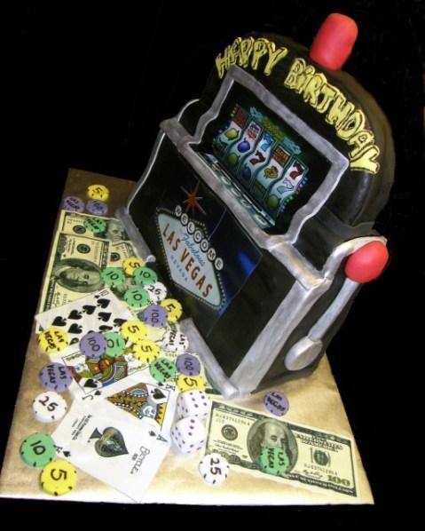 Round Slot Machine Cake