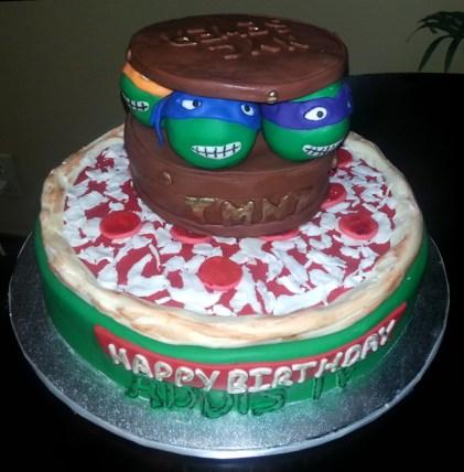 turtle pizza cake