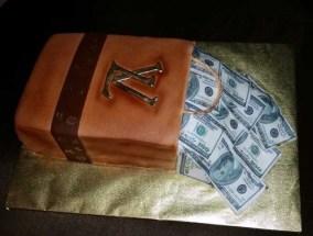 Louis Vuitton Money Bag Cake