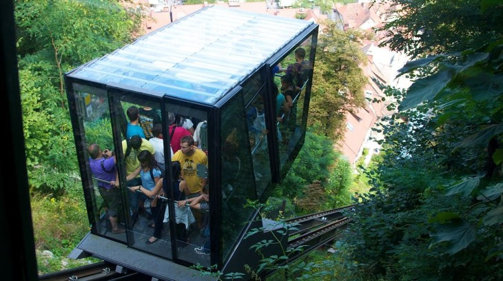 The Funicular in Ljubljana