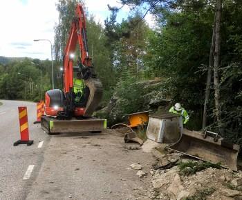 Uddevalla Energis fiberarbete på Hälle 2016. (Bild: Stig Magneson)