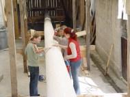 Arbeiten am Baum 23.04.2005 - 17