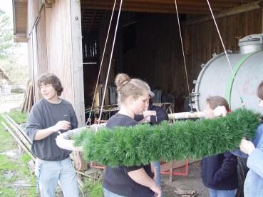 Arbeiten am Baum 23.04.2005 - 21