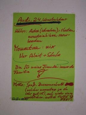 Huettenwochenende 21.10.2005 - 07