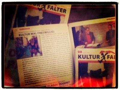 Pressetext im Kulturfalter Magdeburg über die »KultiWIRung«.