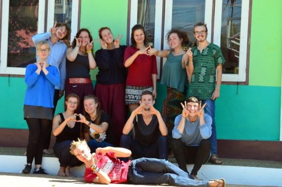 Gruppenfoto in Laos