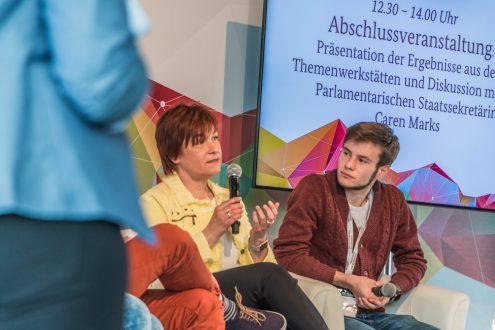 JugendPolitikTage // Forum Frei_Raum – Gespräch mit Parlamentarischen Staatssekretärin Caren Marks