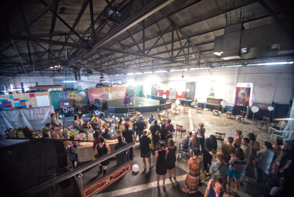 Now discontinued, concerts at KRaP Art's current location drew large crowds.