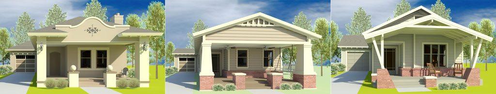 Three house styles