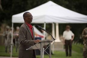 Mayor Pro Tem Phillip Walker spoke during the ceremony.