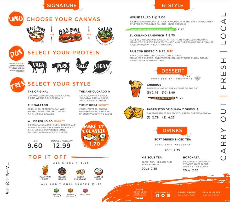 d'lucas updated menu