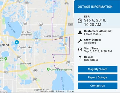 First Person Test New Lakeland Electric Outage Map Lkldnow
