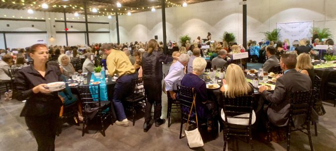 An estimated 300 people attended the inaugural Athena Awards tonight.