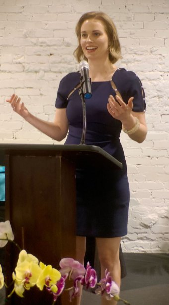 Lakeland native Perianne Boring, founder and president of the Chamber of Digital Commerce, was the speaker at tonight's Athena Awards.