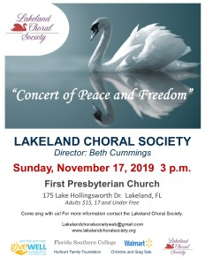 Lakeland Choral Society's Concert of Peace and Freedom @ First Presbyterian Church of Lakeland