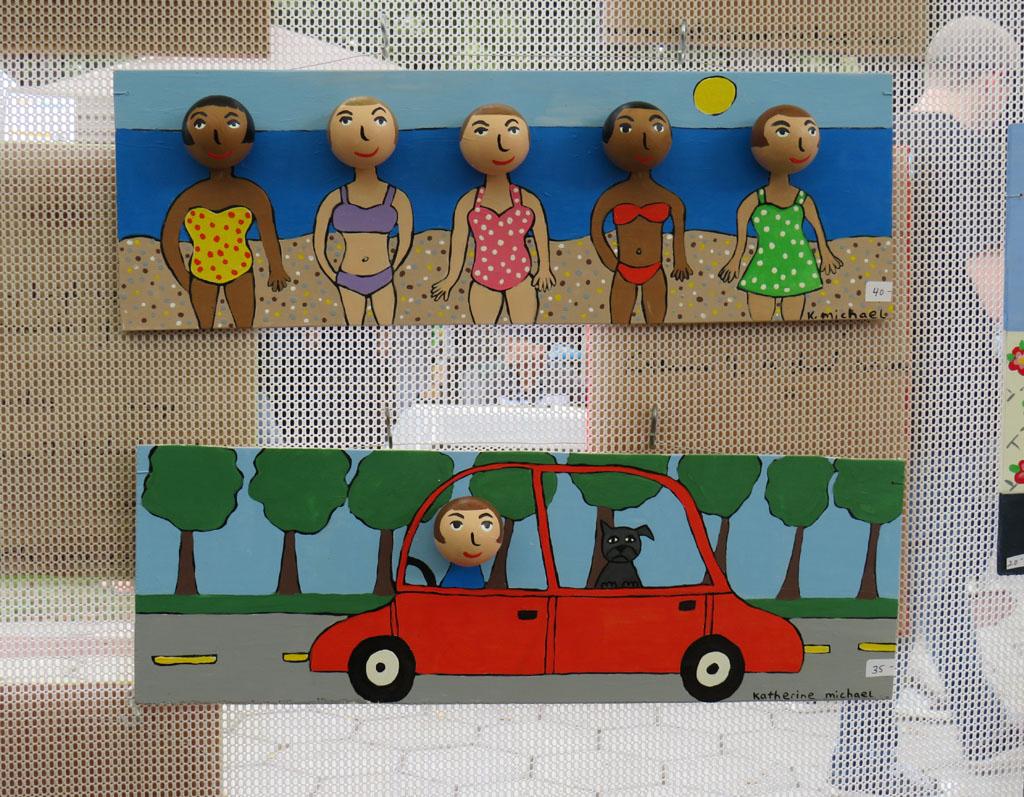 Ping pong ball folk art, by Katherine Michael