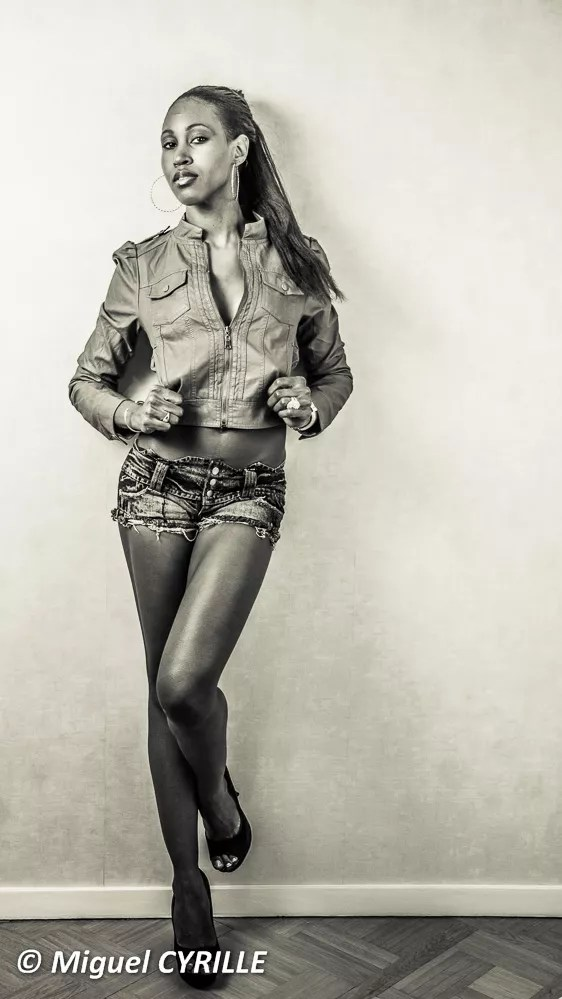 Leather and Jean on Black Skin