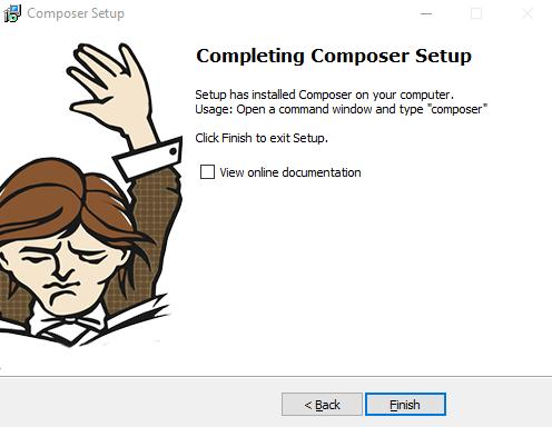 instalasi composer selesai