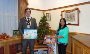 Town Council support Carmarthenshire Christmas toy appeal