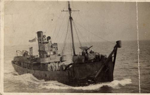 A photograph of MILFORD KING, kindly provided by David Todd, whose father Sydney Arthur Todd (1906-58), was her Chief Engineer from July 1941 to May 1943