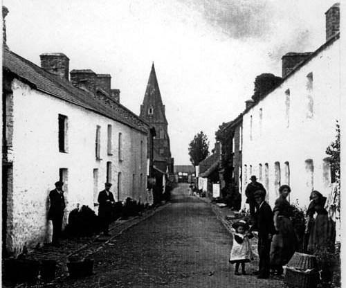 Early view of Church Street Llanrhystud
