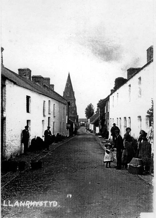 Early view of Church Street Llanrhystud