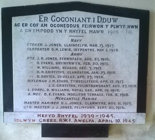 Llanrhystud War Memorial